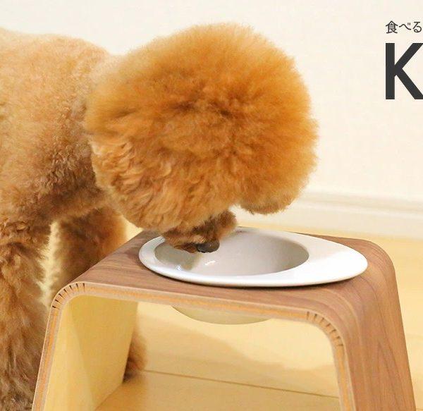 食べやすい姿勢をつくるペット食器台