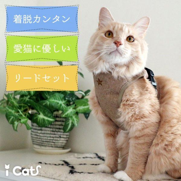 猫の病院で脱走防止!!布製ハーネスとリードのセットで安心通院